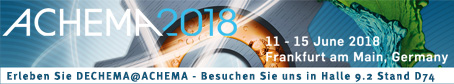 visit us at ACHEMA 2018